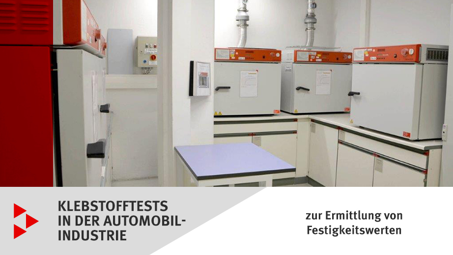 Klebstofftests in der Automobilindustrie